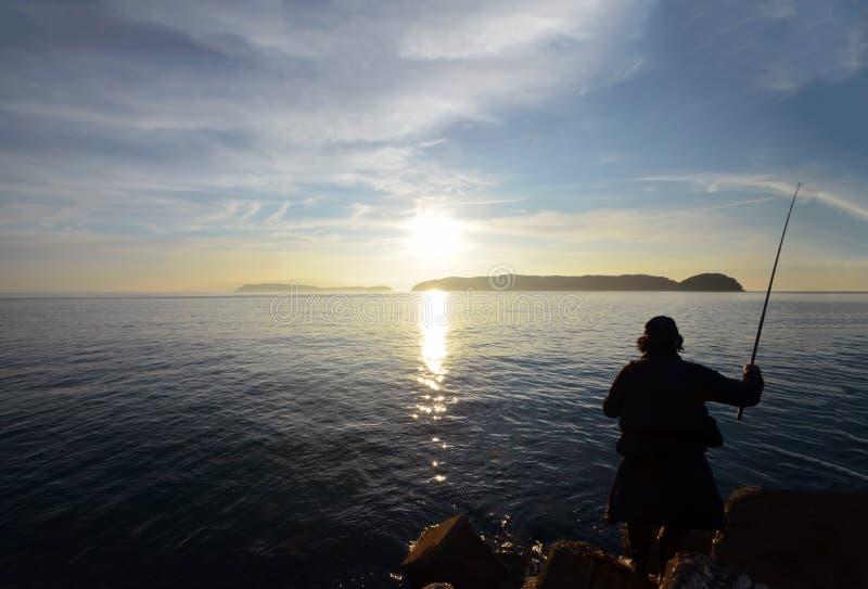Pescador en el wakayama Japón fotos de archivo