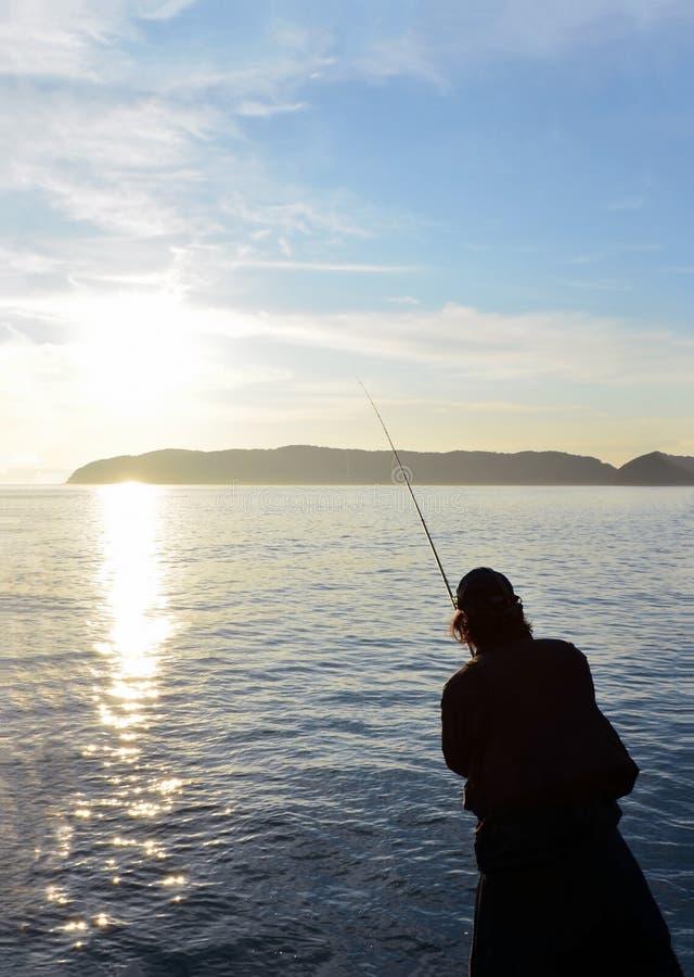 Pescador en el wakayama Japón imagen de archivo