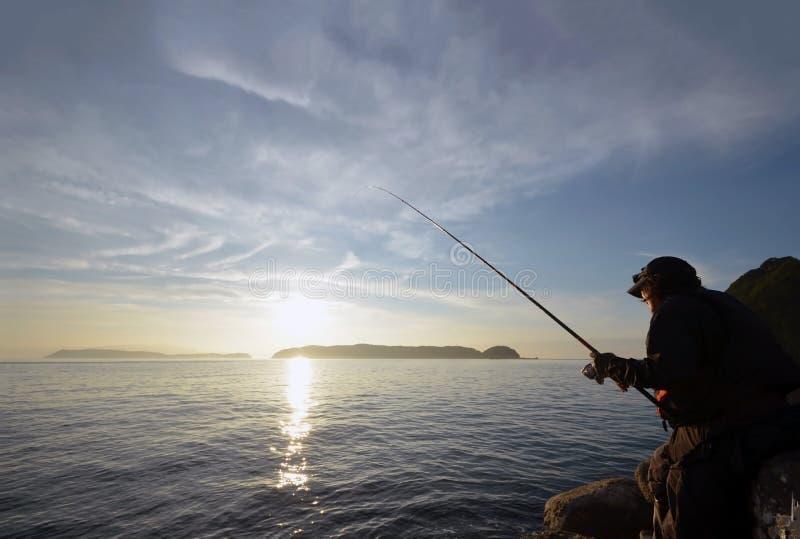 Pescador en el wakayama Japón fotografía de archivo libre de regalías