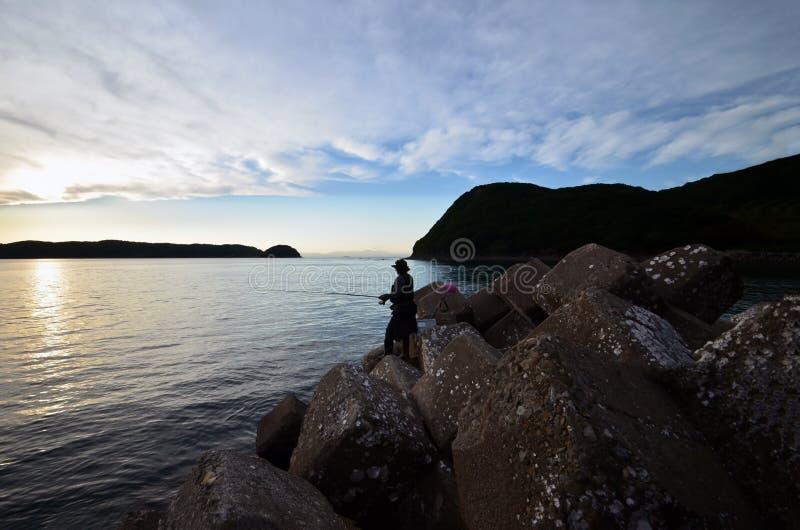 Pescador en el wakayama Japón foto de archivo libre de regalías