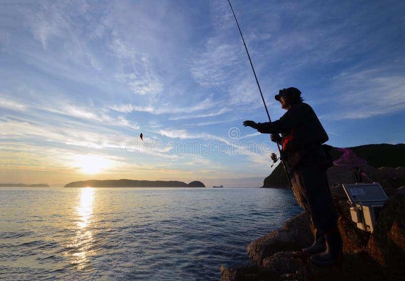 Pescador en el wakayama Japón imágenes de archivo libres de regalías