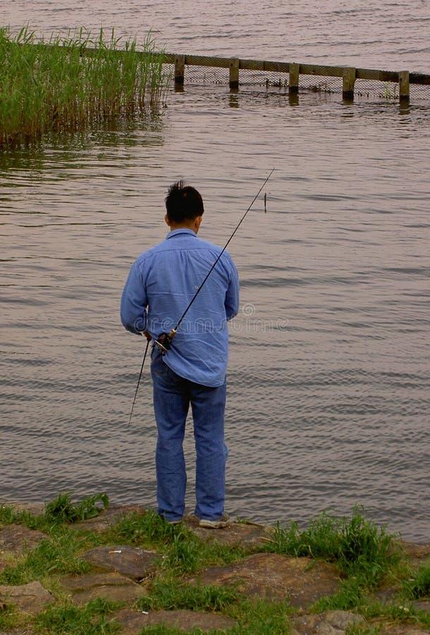 Pescador Engraçado Imagem de Stock Royalty Free