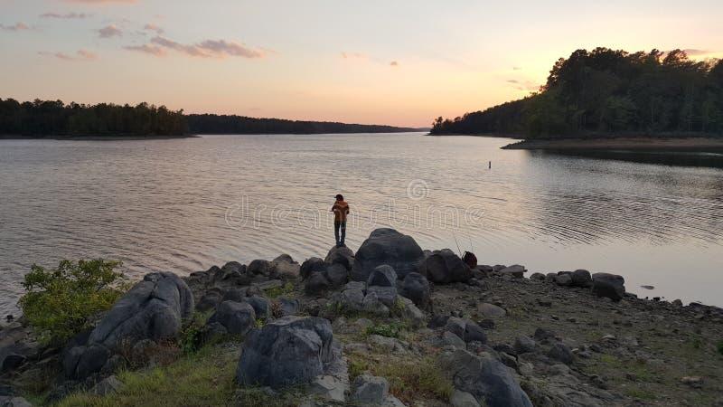 Pescador fiel imagens de stock