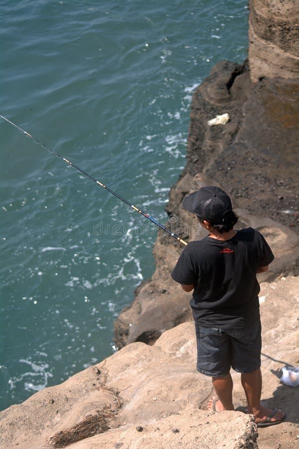 Pescador, lote de Tanah, Bali, Indonésia imagem de stock royalty free