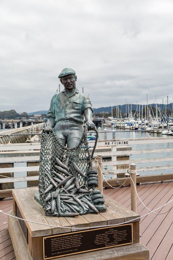 Pescador Monument em Monterey fotos de stock