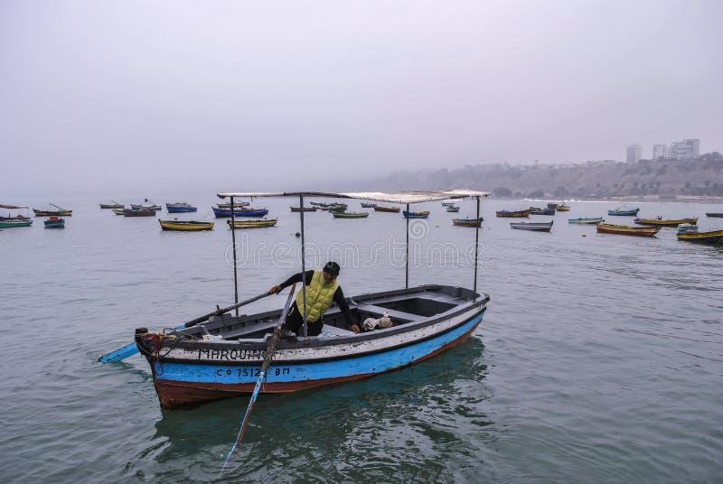 Pescador peruano fotos de archivo libres de regalías
