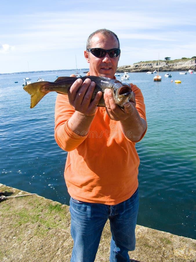 Pescador que vangloria-se imagens de stock royalty free