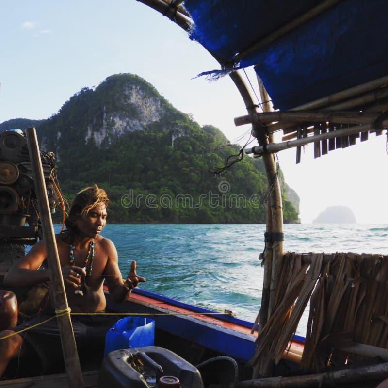 Pescador Thailand imagens de stock royalty free