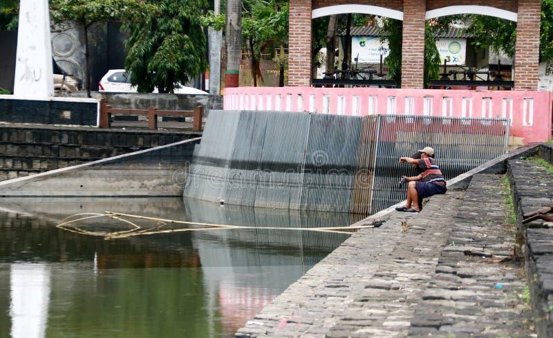 Pescador tradicional imagem de stock