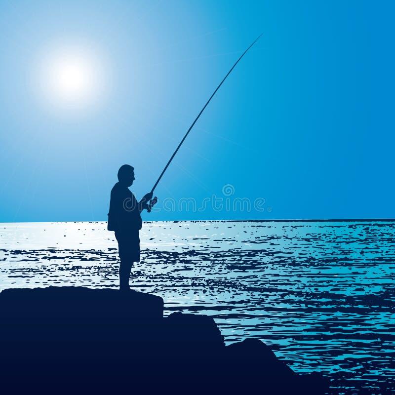 Pescador (vector) stock de ilustración