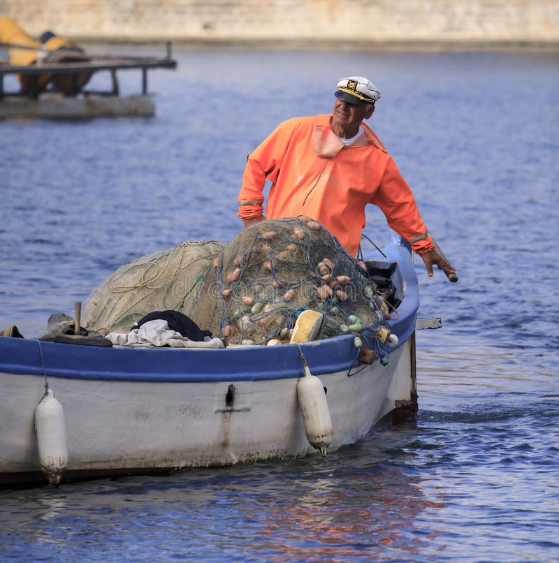 Pescadores. imagen de archivo libre de regalías