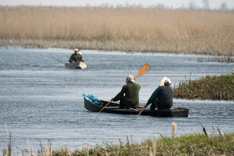 Pescadores fotos de archivo
