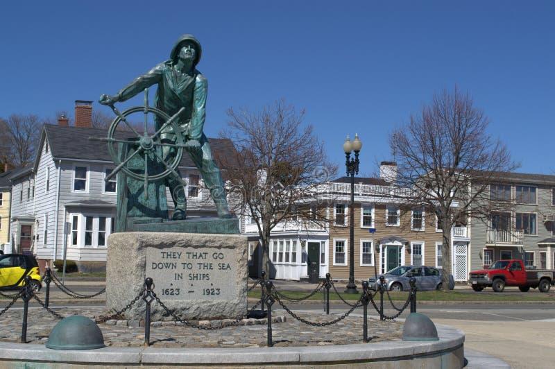 Pescadores caidos del monumento, Gloucester mA fotografía de archivo libre de regalías