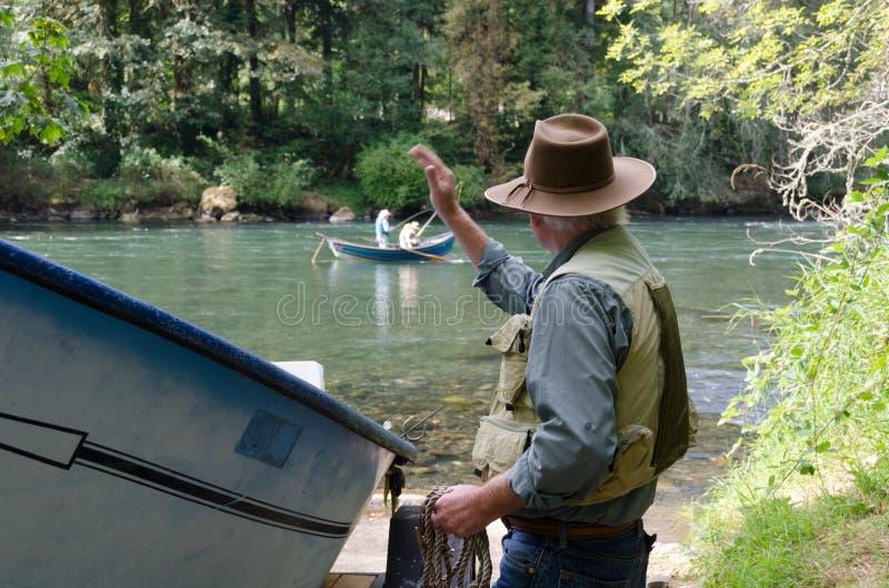 Pescadores compañeros foto de archivo libre de regalías