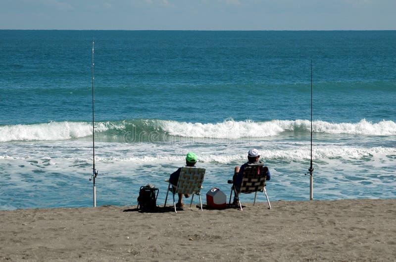 Pescadores da ressaca fotografia de stock royalty free