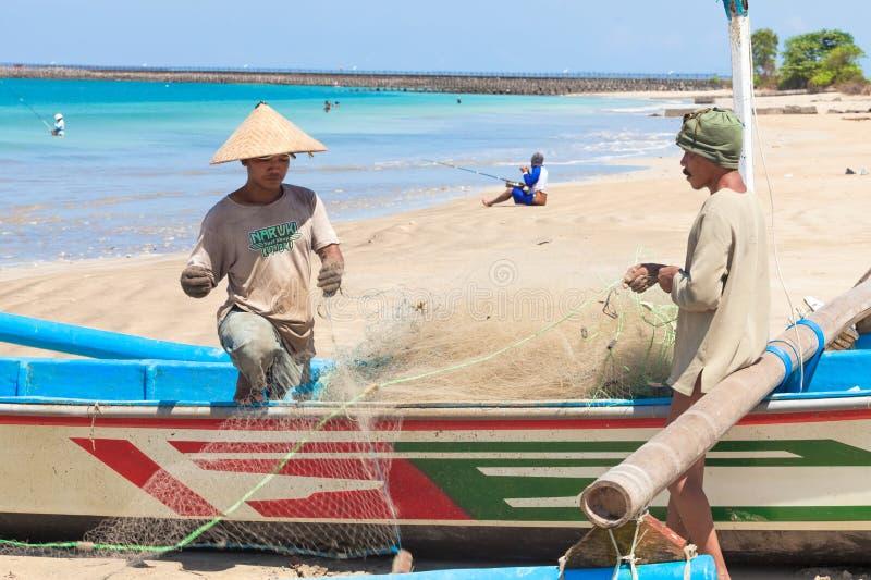 Pescadores del Balinese imagenes de archivo