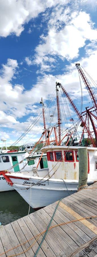 Pescadores del SC de Charleston imágenes de archivo libres de regalías