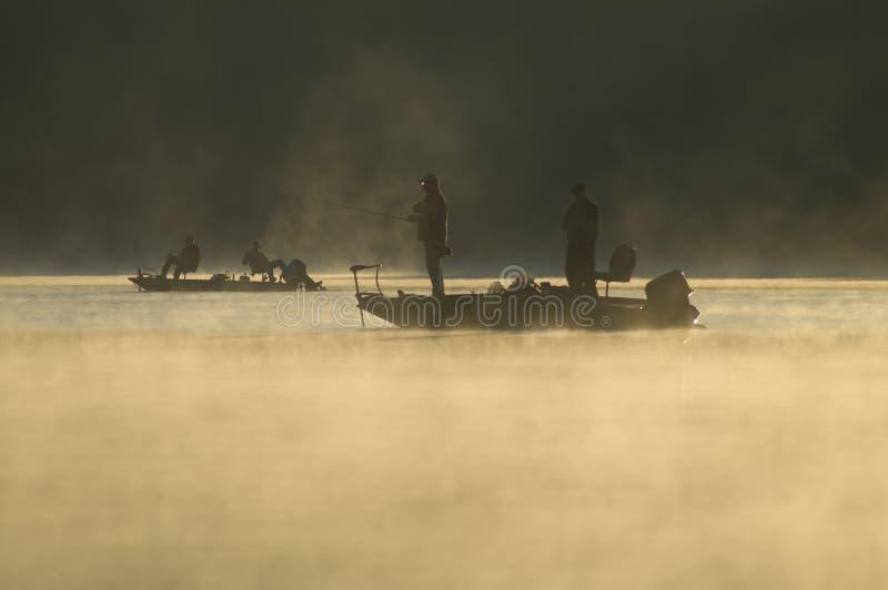 Pescadores do amanhecer foto de stock royalty free