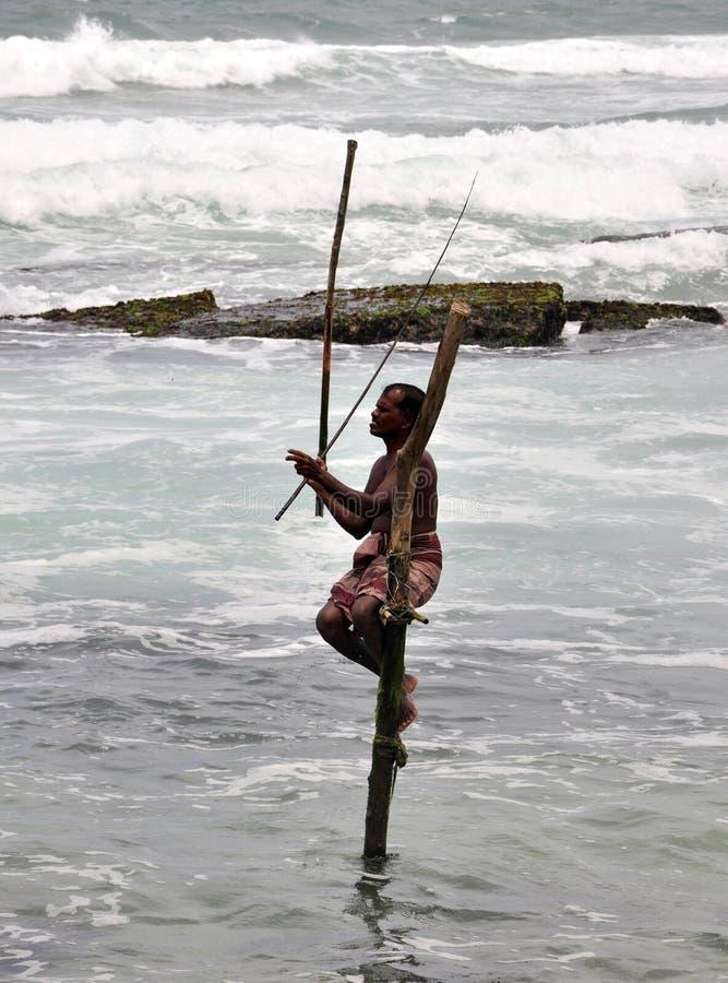 Pescadores do Stilt fotos de stock royalty free
