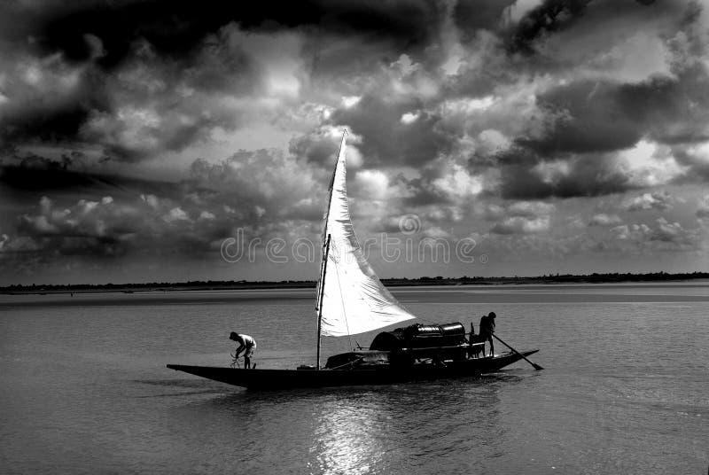 Pescadores em Sundarban. fotos de stock