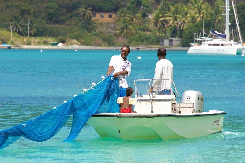 Pescadores en Tortola, del Caribe foto de archivo libre de regalías