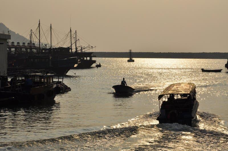 Pescadores pueblo, Hong Kong del Tai O imagen de archivo