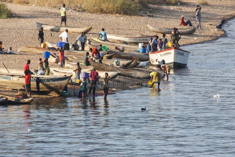 Pescadores que se preparan para pescar fotografía de archivo