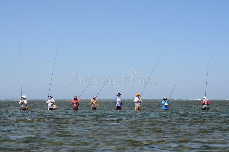 Pescadores típicos do Balinese que estão em seguido imagem de stock