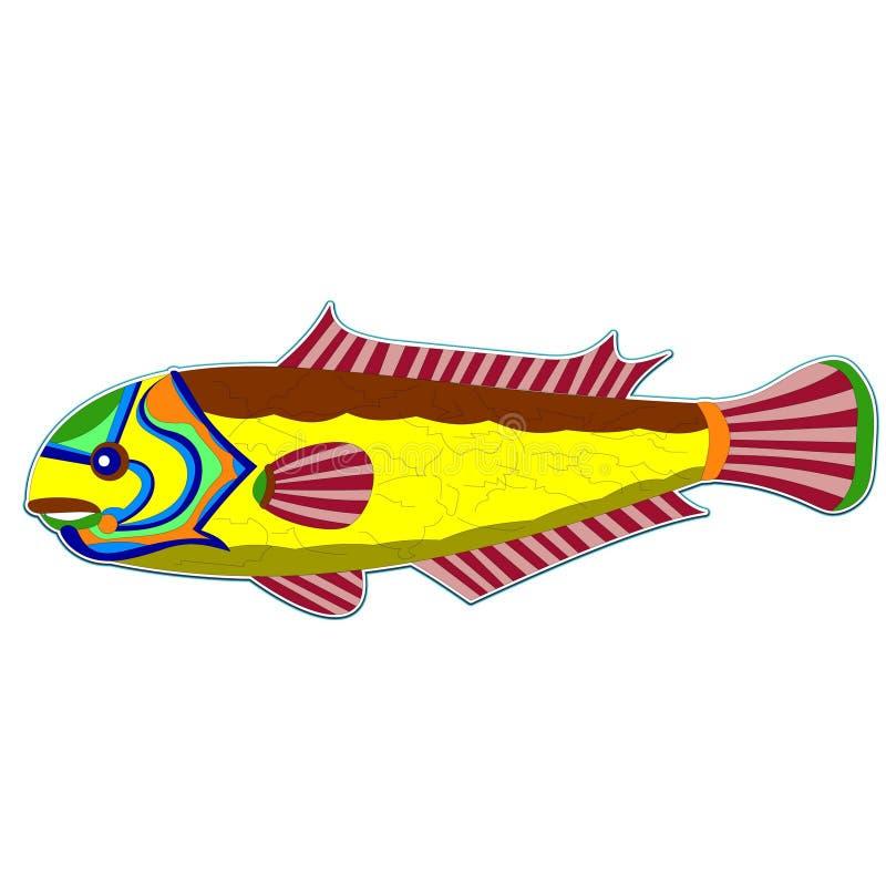 Pescados amarillos del monstruo stock de ilustración