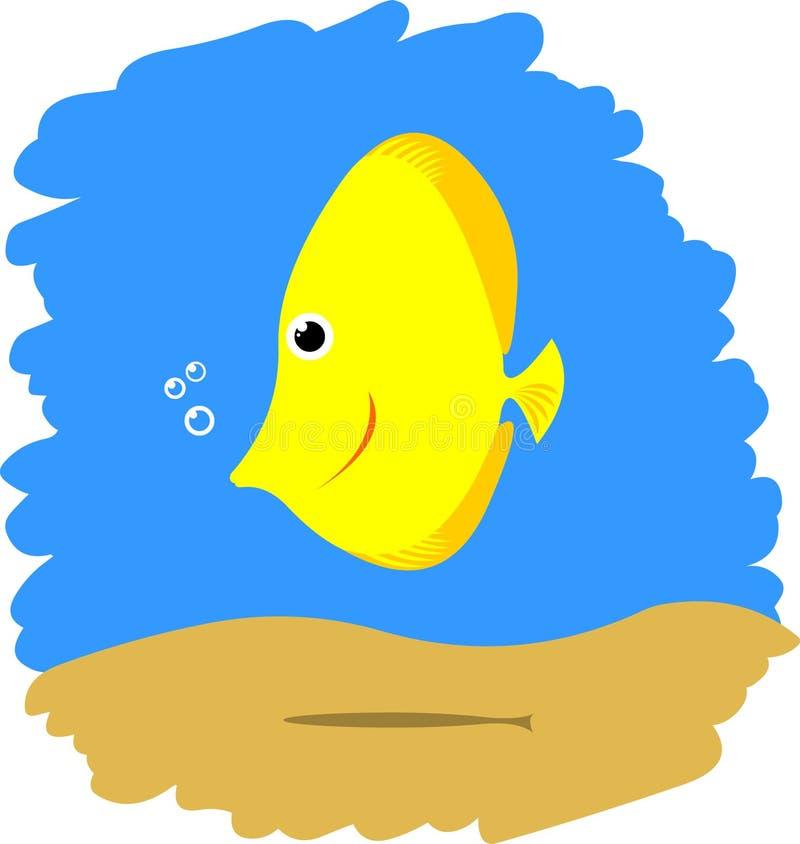 Pescados amarillos lindos libre illustration