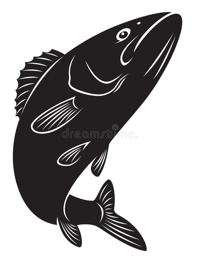 Pescados bajos ilustración del vector