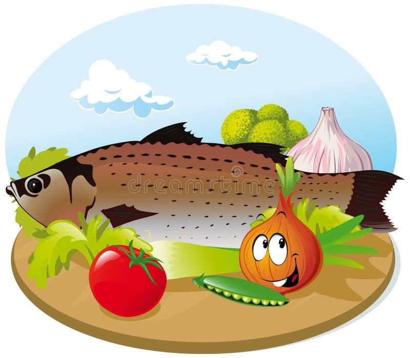 Pescados con el vehículo libre illustration