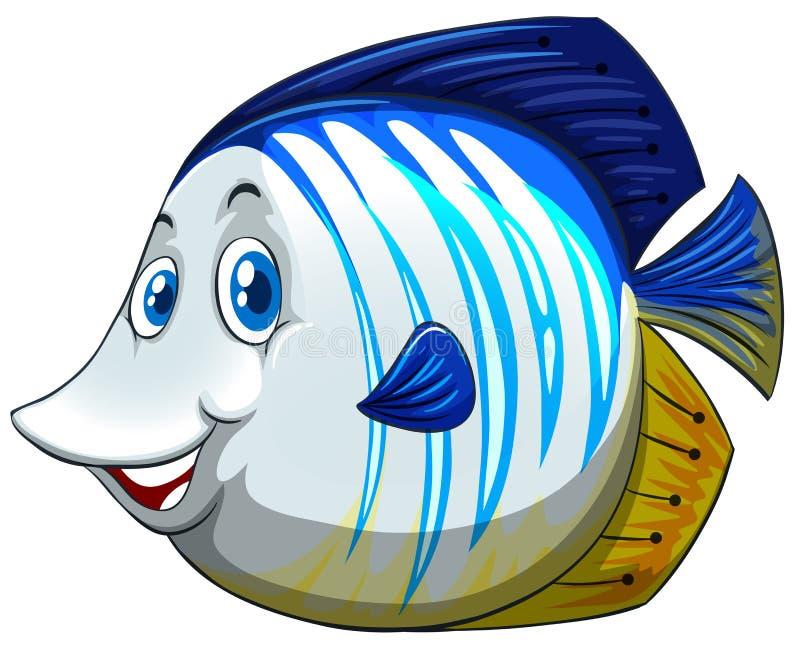 Pescados con la cara feliz stock de ilustración