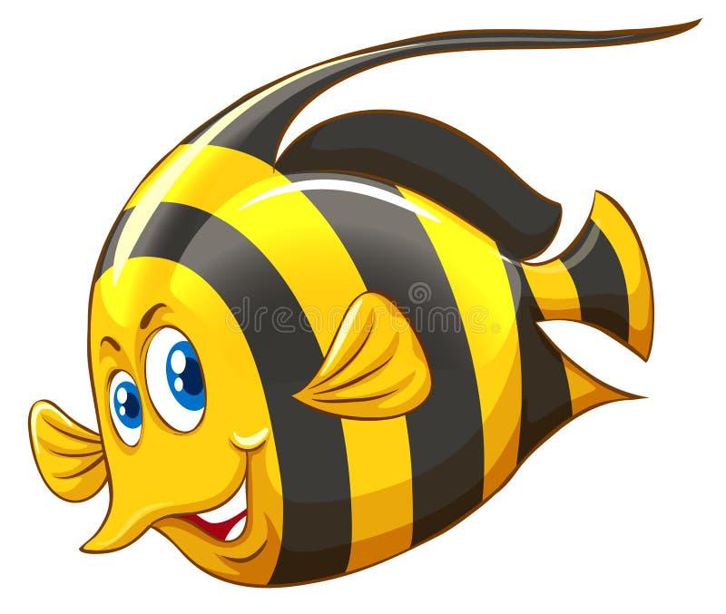 Pescados con rayado amarillo y negro stock de ilustración