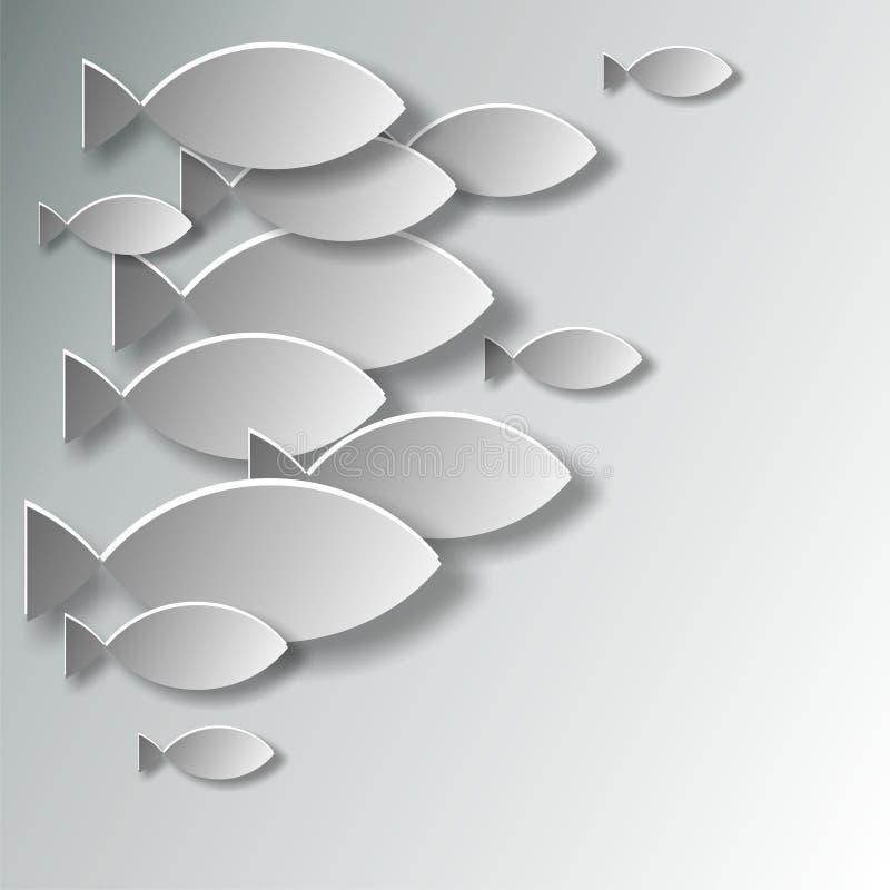 Pescados cristianos del símbolo stock de ilustración