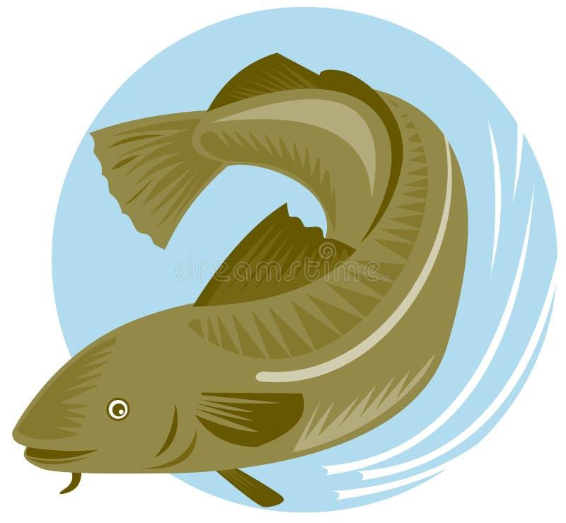 Pescados de bacalao ilustración del vector