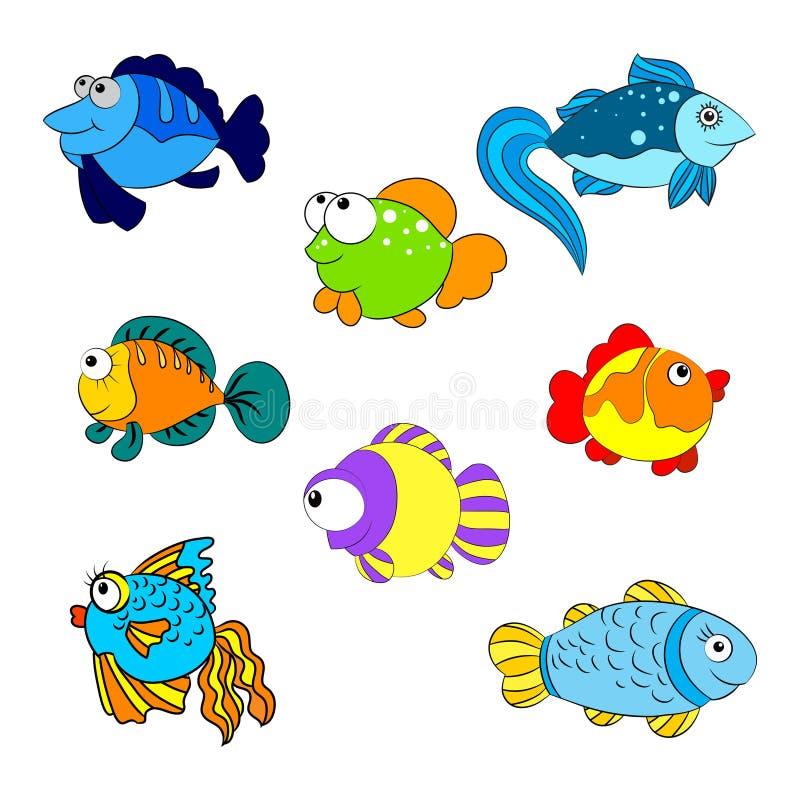 Pescados de Colorfull ilustración del vector