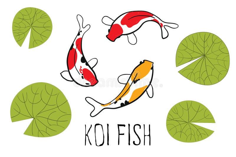 Pescados de Koi stock de ilustración
