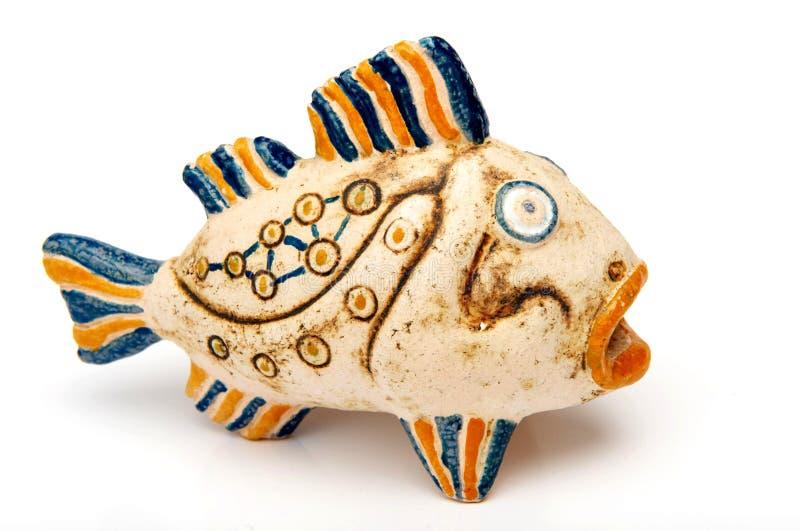 Pescados de la cerámica foto de archivo