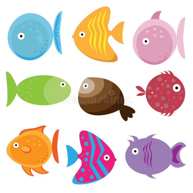Pescados de la historieta stock de ilustración