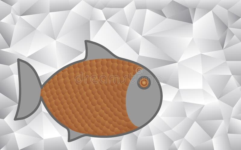 Pescados de la historieta en un modelo geométrico abstracto libre illustration