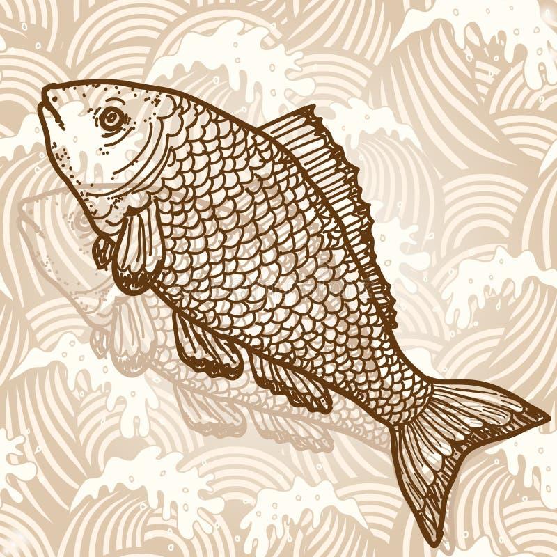 Pescados de mar ilustración del vector