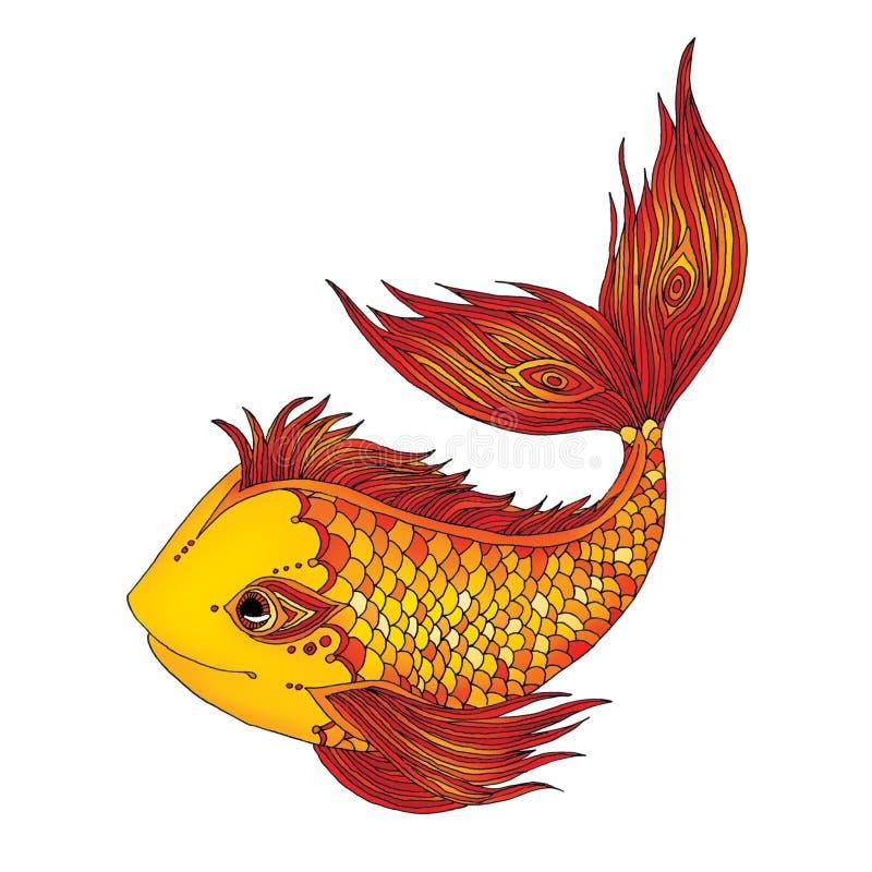 Pescados de oro ilustración del vector