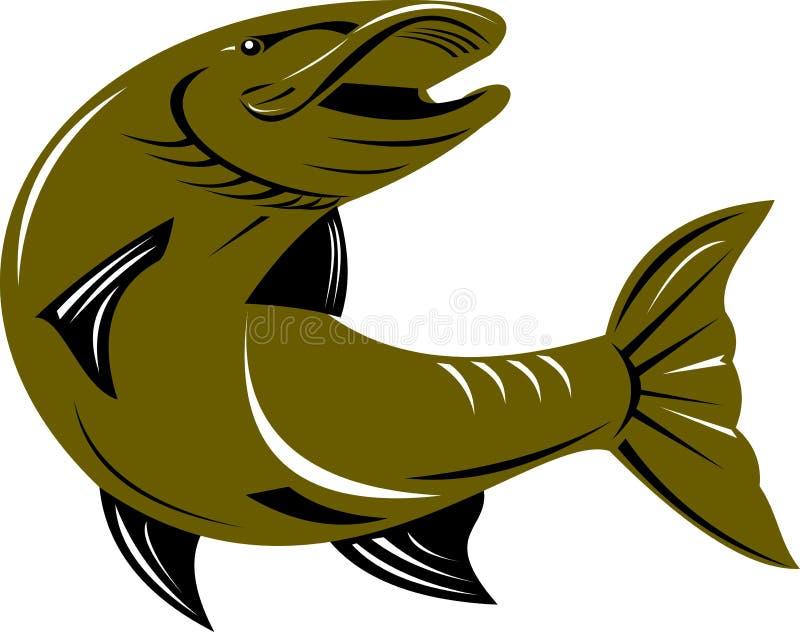 Pescados de Pike stock de ilustración
