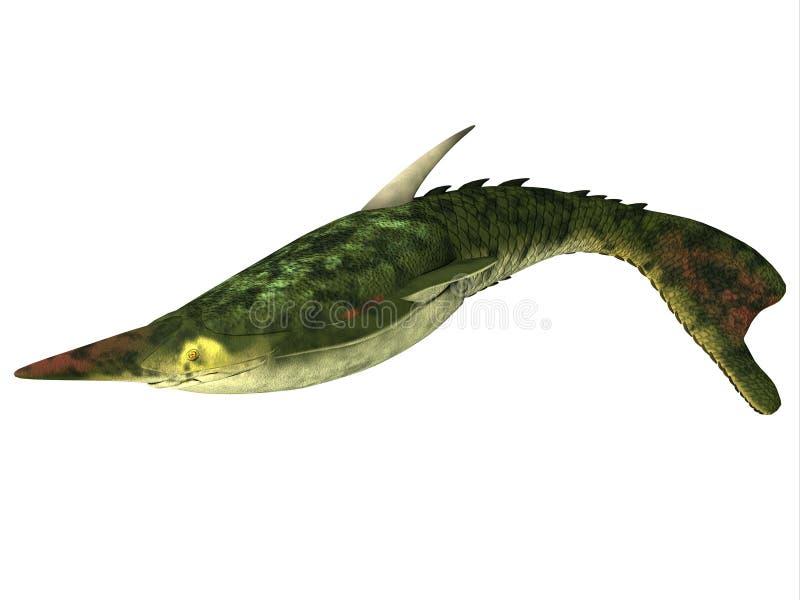 Pescados de Pteraspis en blanco ilustración del vector