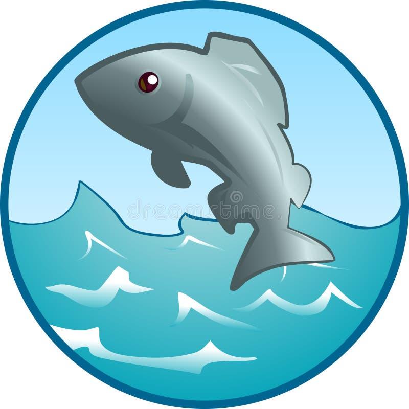 Pescados de salto stock de ilustración