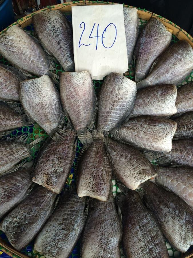 Pescados de sequía para el preservativo de comida imagen de archivo