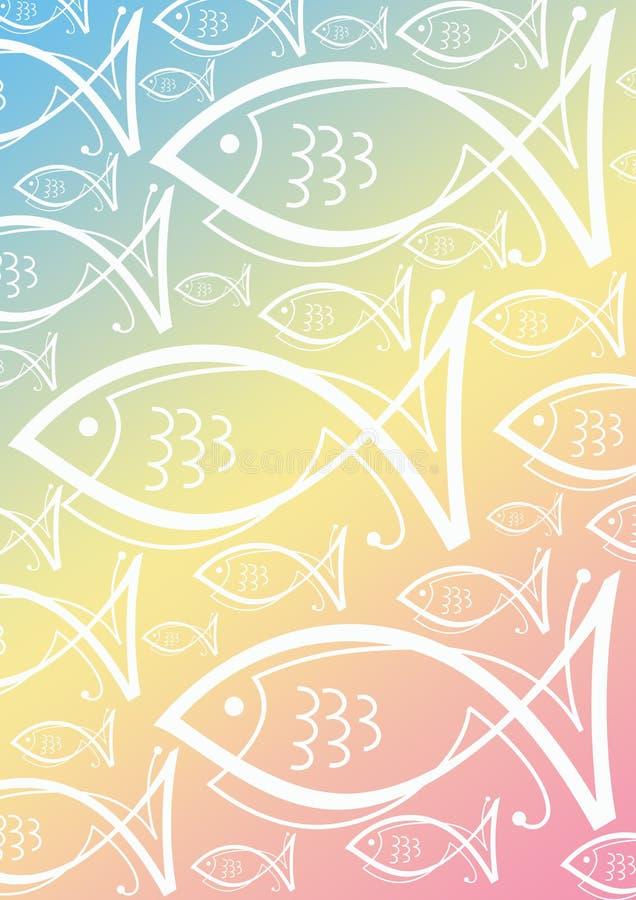 Pescados del fondo stock de ilustración