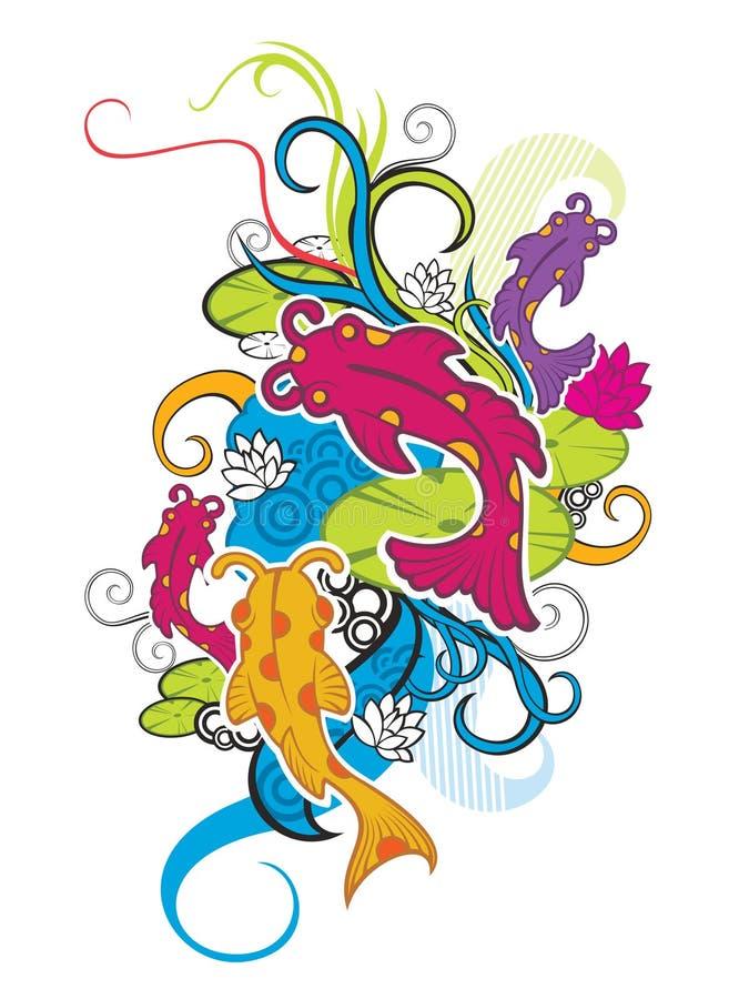 Pescados del ornamento libre illustration