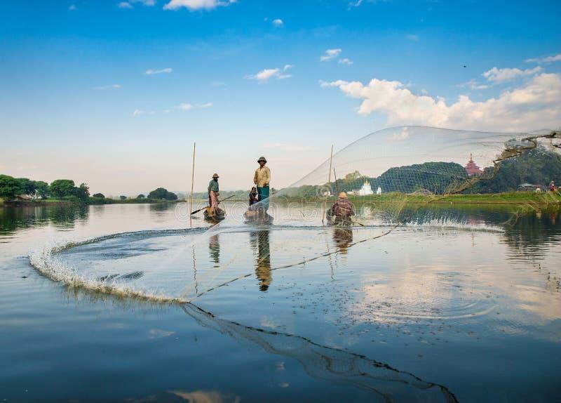 Pescados del retén de los pescadores imagen de archivo libre de regalías